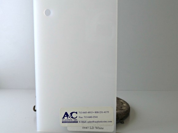 2447 187 75x150 Optix Ld F White Acrylic Light