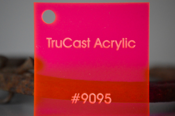 TruCast Fluorescent Red 9095 Acrylic 48x96x.220in
