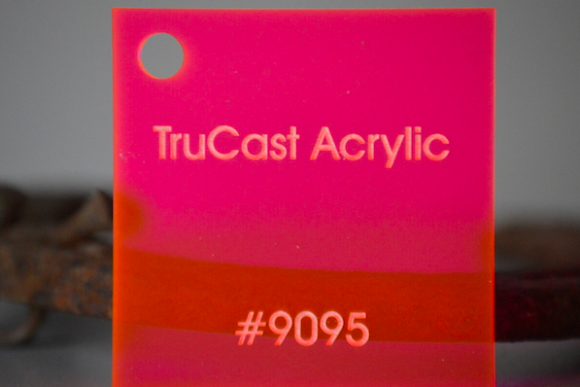 TruCast Fluorescent Red 9095 Acrylic 48x96x.187in
