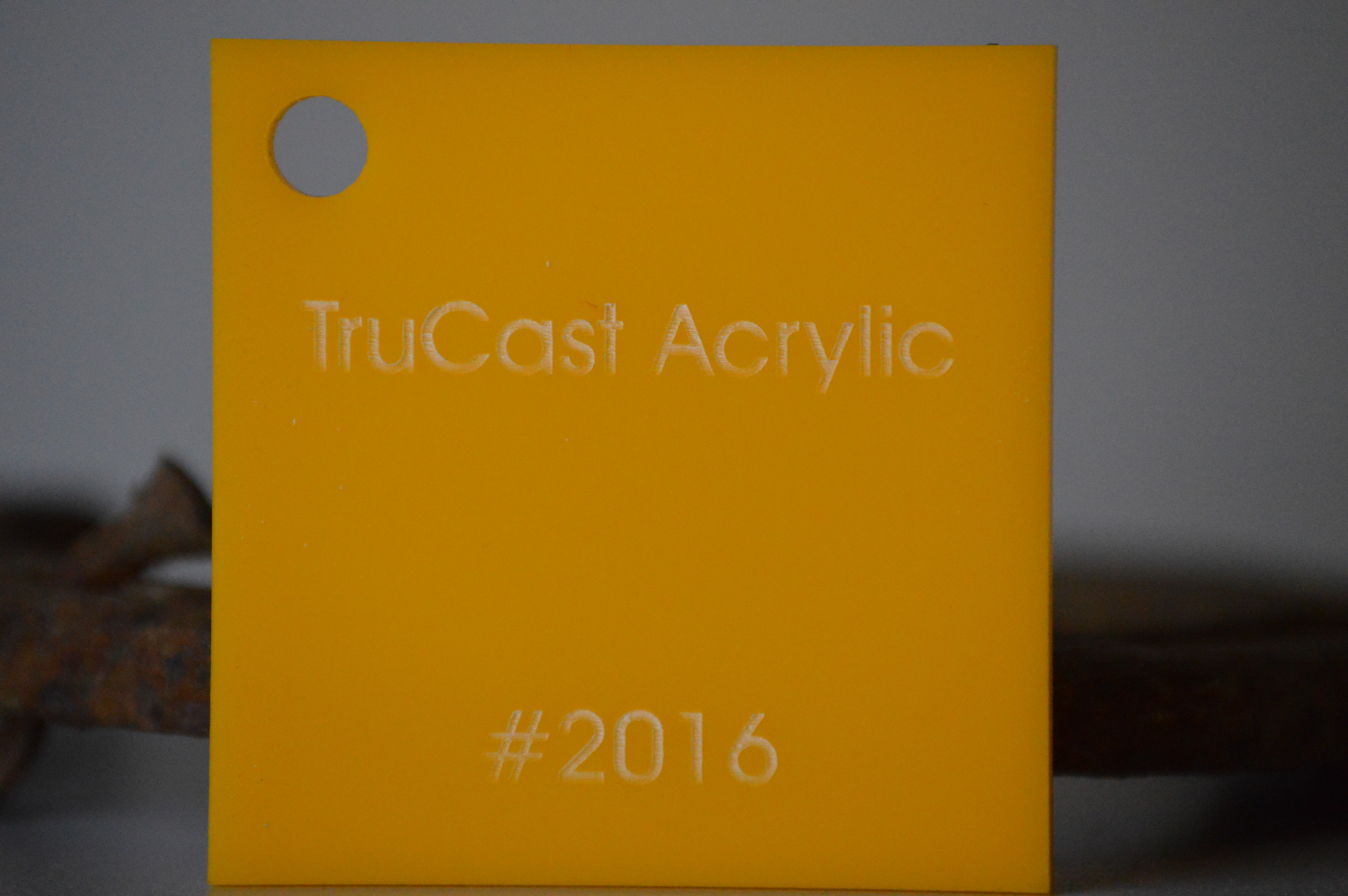trucast acrylic sheet yellow