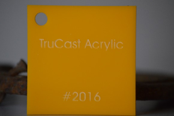 yellow trucast acrylic sheet